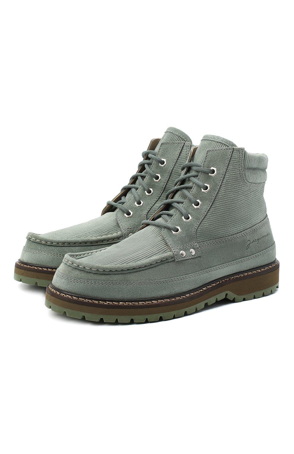 Мужские замшевые ботинки garrigue JACQUEMUS зеленого цвета, арт. 206F005/411520 | Фото 1