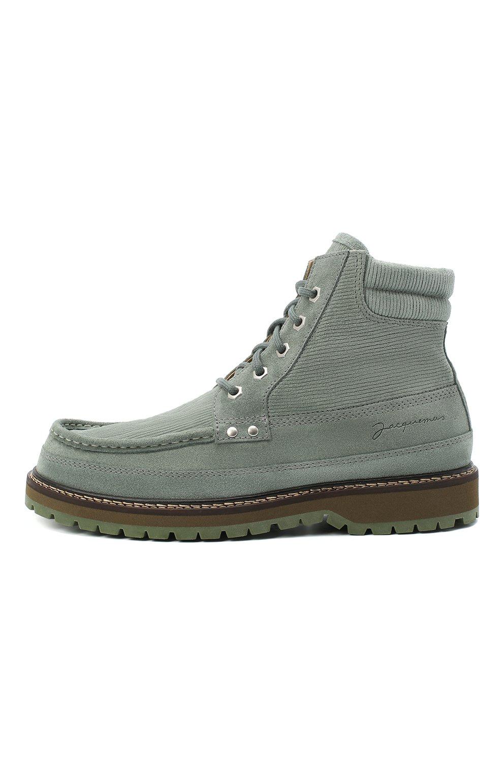 Мужские замшевые ботинки garrigue JACQUEMUS зеленого цвета, арт. 206F005/411520 | Фото 3