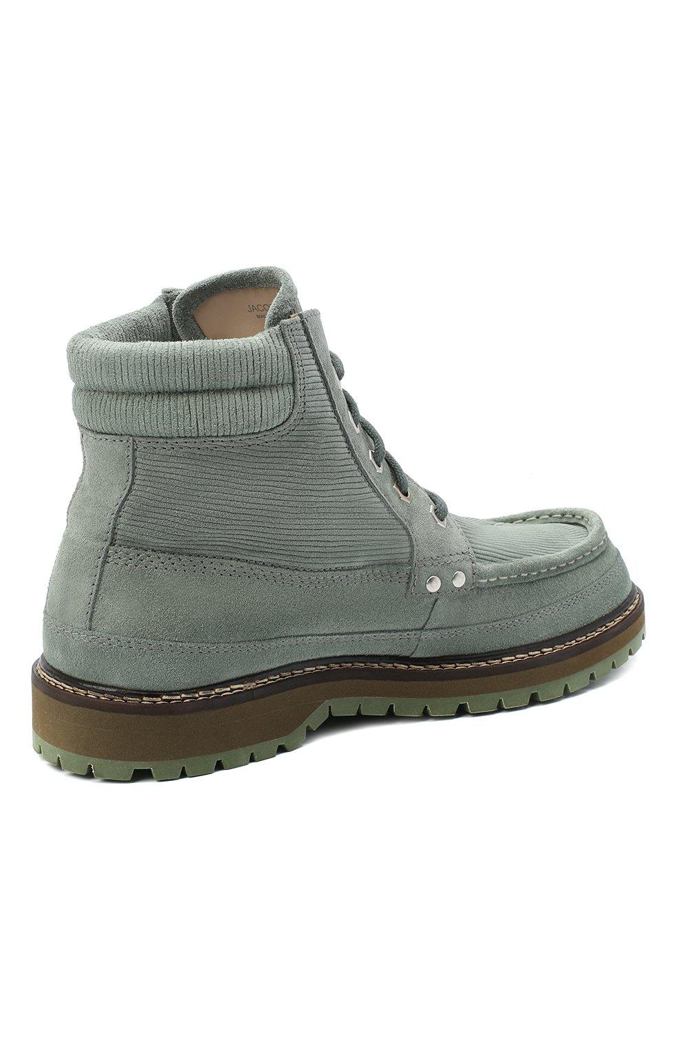 Мужские замшевые ботинки garrigue JACQUEMUS зеленого цвета, арт. 206F005/411520 | Фото 4