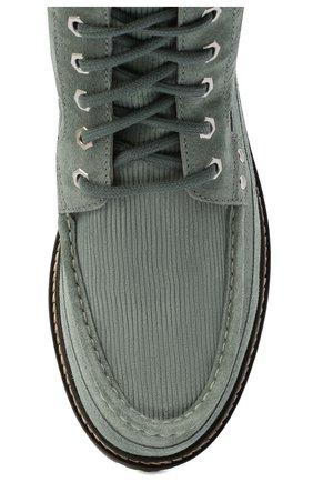 Мужские замшевые ботинки garrigue JACQUEMUS зеленого цвета, арт. 206F005/411520 | Фото 5