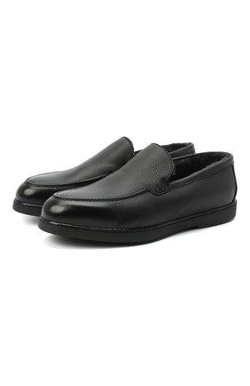 Мужские кожаные лоферы arturo DOUCAL'S черного цвета, арт. DU2653ED0-UM019NN00 | Фото 1