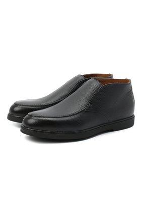Мужские кожаные ботинки DOUCAL'S темно-синего цвета, арт. DU2654ED0-UF019NB00 | Фото 1