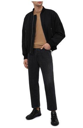 Мужские кожаные кеды blabber GIUSEPPE ZANOTTI DESIGN черного цвета, арт. RU00083/002 | Фото 2