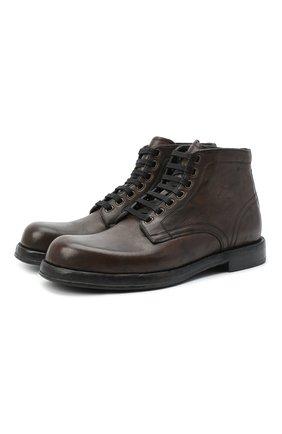 Мужские кожаные ботинки perugino DOLCE & GABBANA серого цвета, арт. A60306/AW765 | Фото 1