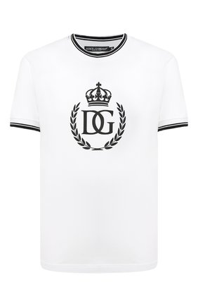 Мужская хлопковая футболка DOLCE & GABBANA белого цвета, арт. G8KC0T/G7XLN | Фото 1