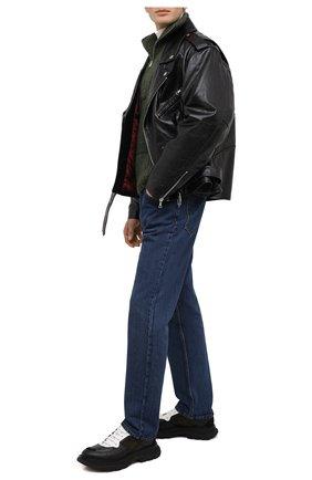 Мужские кожаные кроссовки ALEXANDER MCQUEEN разноцветного цвета, арт. 627222/WHRH4 | Фото 2