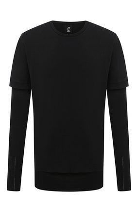 Мужская хлопковый лонгслив THOM KROM черного цвета, арт. M TS 449 | Фото 1