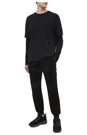 Мужская хлопковый лонгслив THOM KROM черного цвета, арт. M TS 449 | Фото 2