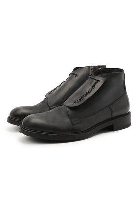 Мужские кожаные ботинки PANTANETTI темно-серого цвета, арт. 13926B | Фото 1