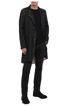 Мужские замшевые дерби PANTANETTI черного цвета, арт. 13962A   Фото 2 (Материал внутренний: Натуральная кожа; Стили: Классический; Материал внешний: Замша)