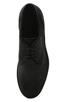 Мужские замшевые дерби PANTANETTI черного цвета, арт. 13962A   Фото 5 (Материал внутренний: Натуральная кожа; Стили: Классический; Материал внешний: Замша)