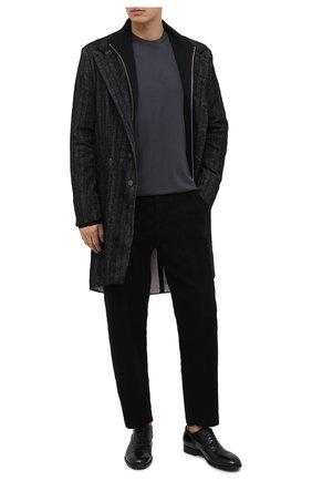 Мужские кожаные оксфорды PANTANETTI черного цвета, арт. 13985C   Фото 2