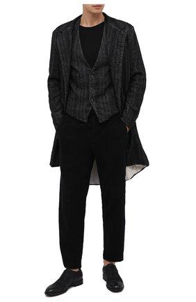Мужские кожаные оксфорды PANTANETTI черного цвета, арт. 13985F | Фото 2