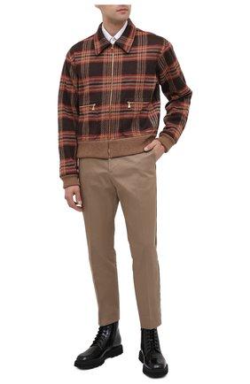 Мужские кожаные ботинки GUCCI черного цвета, арт. 624653/DS800 | Фото 2 (Материал внутренний: Натуральная кожа; Материал внешний: Кожа; Подошва: Массивная; Мужское Кросс-КТ: Ботинки-обувь)