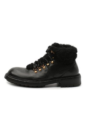 Мужские кожаные ботинки bernini DOLCE & GABBANA черного цвета, арт. A60326/AW952 | Фото 3