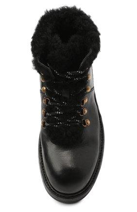 Мужские кожаные ботинки bernini DOLCE & GABBANA черного цвета, арт. A60326/AW952 | Фото 5