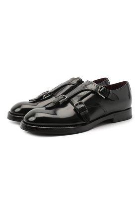 Мужские кожаные монки michelangelo DOLCE & GABBANA черного цвета, арт. A10612/A1203 | Фото 1