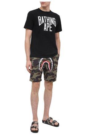 Мужские шорты BAPE хаки цвета, арт. 1G80153012 | Фото 2