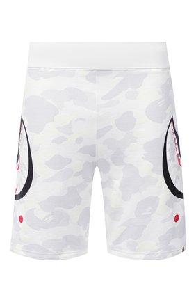 Мужские хлопковые шорты BAPE белого цвета, арт. 1G80153010 | Фото 1