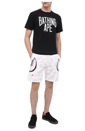 Мужские хлопковые шорты BAPE белого цвета, арт. 1G80153010 | Фото 2