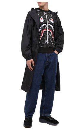 Мужской хлопковый свитшот BAPE темно-серого цвета, арт. 1G80113010   Фото 2
