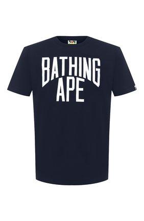 Мужская хлопковая футболка BAPE темно-синего цвета, арт. 1G80110019 | Фото 1