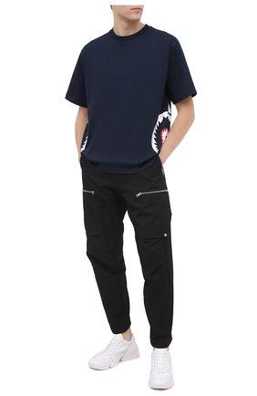 Мужская хлопковая футболка BAPE темно-синего цвета, арт. 1G80110018 | Фото 2