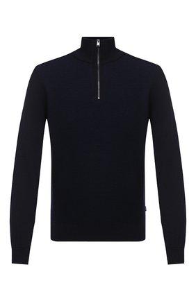 Мужской шерстяной джемпер BOSS темно-синего цвета, арт. 50435244 | Фото 1