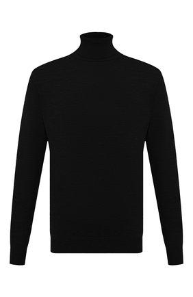 Мужской шерстяная водолазка BOGNER черного цвета, арт. 88812445 | Фото 1