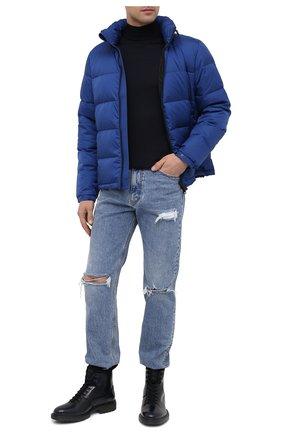 Мужские кожаные ботинки HUGO темно-синего цвета, арт. 50441125 | Фото 2