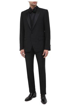 Мужская сорочка из хлопка и шелка BRIONI черного цвета, арт. RCX60M/0Z006 | Фото 2