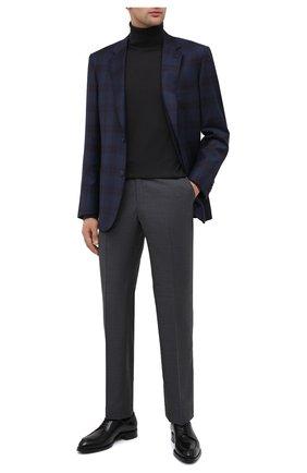 Мужской пиджак из шерсти и шелка BRIONI темно-синего цвета, арт. RGH00T/09A7P/PARLAMENT0 | Фото 2