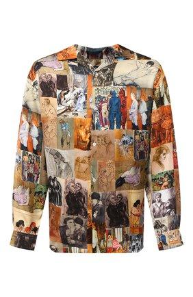 Мужская рубашка из вискозы Y/PROJECT разноцветного цвета, арт. SHIRT36-S19 F206 | Фото 1