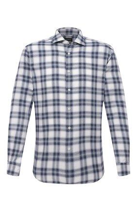 Мужская хлопковая рубашка ERMENEGILDO ZEGNA синего цвета, арт. UVX21/SRF5 | Фото 1