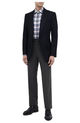 Мужская хлопковая рубашка ERMENEGILDO ZEGNA синего цвета, арт. UVX21/SRF5 | Фото 2