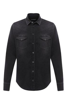 Мужская рубашка DOLCE & GABBANA черного цвета, арт. G5EX7D/G8C03 | Фото 1