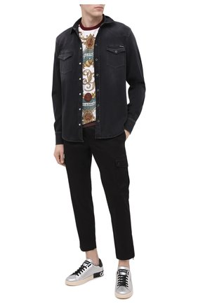 Мужская рубашка DOLCE & GABBANA черного цвета, арт. G5EX7D/G8C03 | Фото 2