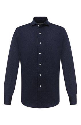 Мужская хлопковая рубашка CANALI темно-синего цвета, арт. L756/GN01992   Фото 1