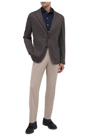 Мужская хлопковая рубашка CANALI темно-синего цвета, арт. L756/GN01992   Фото 2