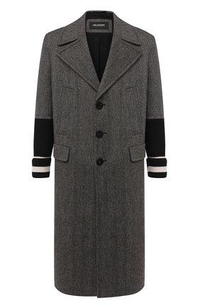 Мужской шерстяное пальто NEIL BARRETT темно-коричневого цвета, арт. BCA327C/P072 | Фото 1
