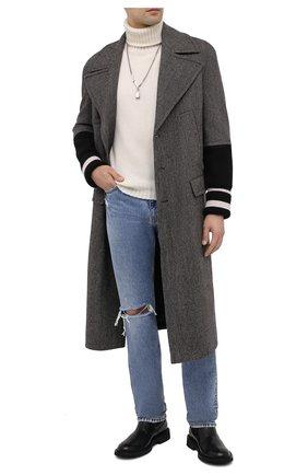 Мужской шерстяное пальто NEIL BARRETT темно-коричневого цвета, арт. BCA327C/P072 | Фото 2