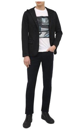 Мужской пиджак EMPORIO ARMANI черного цвета, арт. 6H1GN6/1JEVZ | Фото 2
