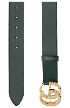 Мужской кожаный ремень GUCCI зеленого цвета, арт. 406831/0YA0G | Фото 2