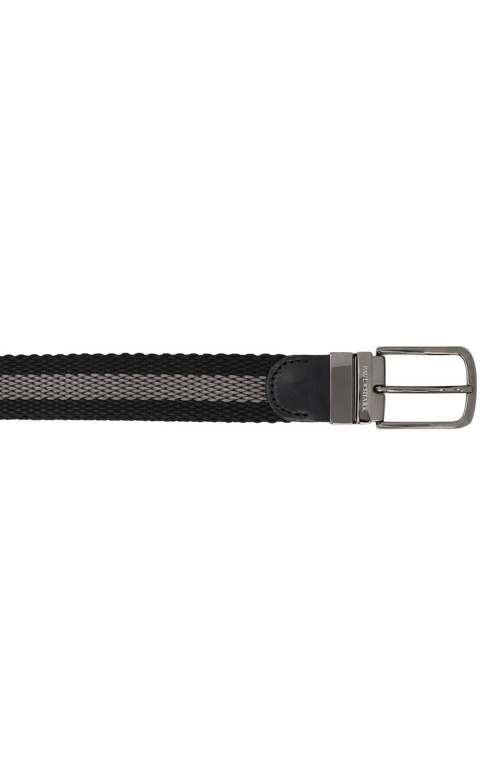 Мужской текстильный ремень PAUL&SHARK черного цвета, арт. I20P6004/GQT | Фото 3