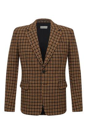 Мужской шерстяной пиджак DRIES VAN NOTEN светло-коричневого цвета, арт. 202-20429-1189 | Фото 1