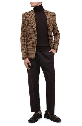 Мужской шерстяной пиджак DRIES VAN NOTEN светло-коричневого цвета, арт. 202-20429-1189 | Фото 2