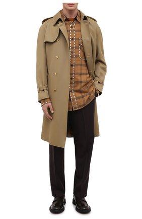 Мужская хлопковая рубашка DRIES VAN NOTEN светло-коричневого цвета, арт. 202-20723-1266 | Фото 2