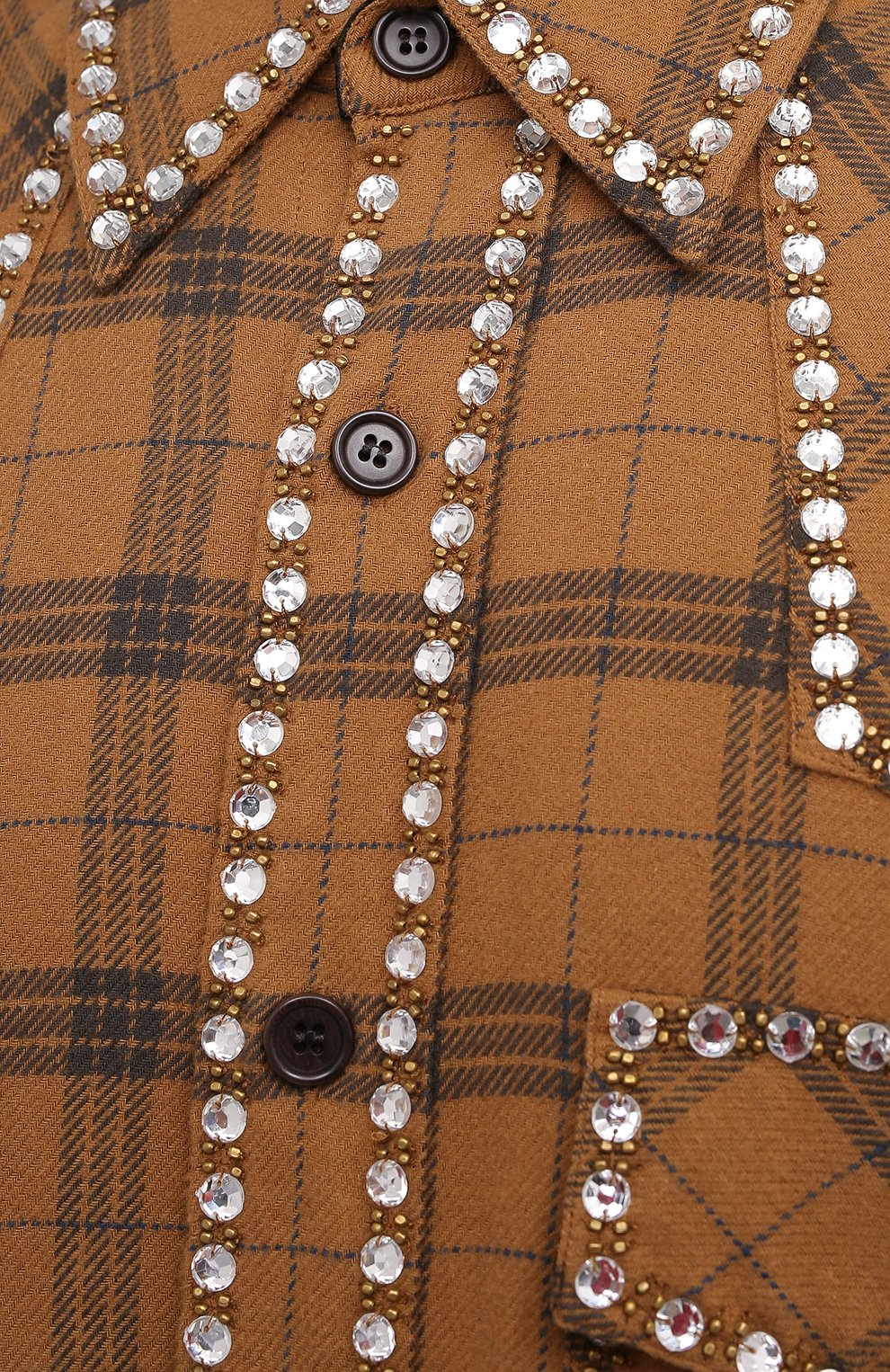 Мужская хлопковая рубашка DRIES VAN NOTEN светло-коричневого цвета, арт. 202-20723-1266 | Фото 5