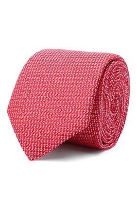 Мужской шелковый галстук ETON красного цвета, арт. A000 32400 | Фото 1