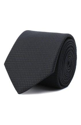 Мужской шелковый галстук ETON черного цвета, арт. A000 32400 | Фото 1
